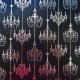 Chandeliers - Black Pearl - Silver Foiled