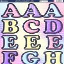 Alphabet Soup - Pastel Pink