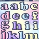 Large Upper & Lowercase Letter - Pink