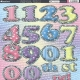 Large Diecut Numbers - Assorted Colours