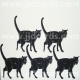 Standing Black Cats